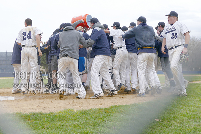 BASE  Wilkes to play in the MAC Freedom tournament     The Beacon Colonels celebrate a walk off win