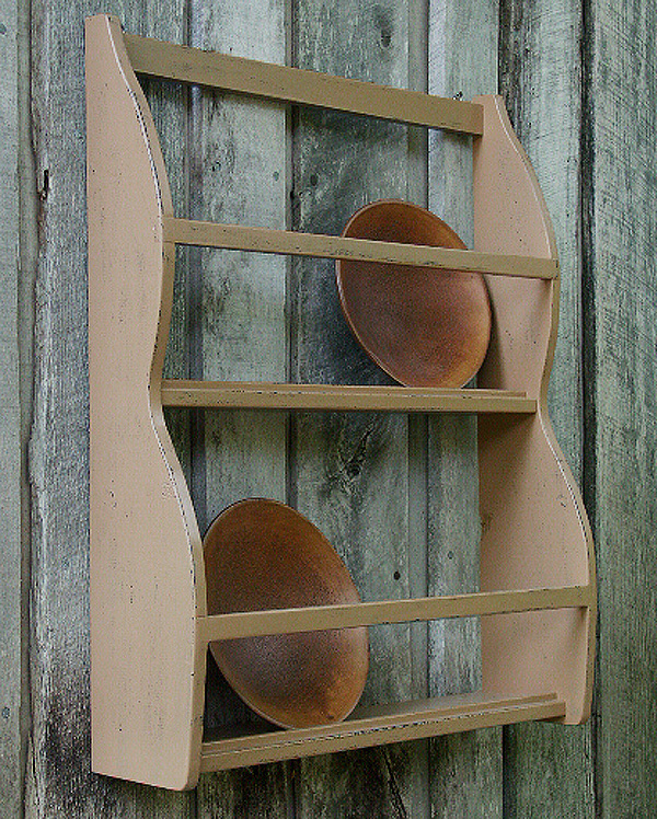 Wood Primitive Rack Bowl