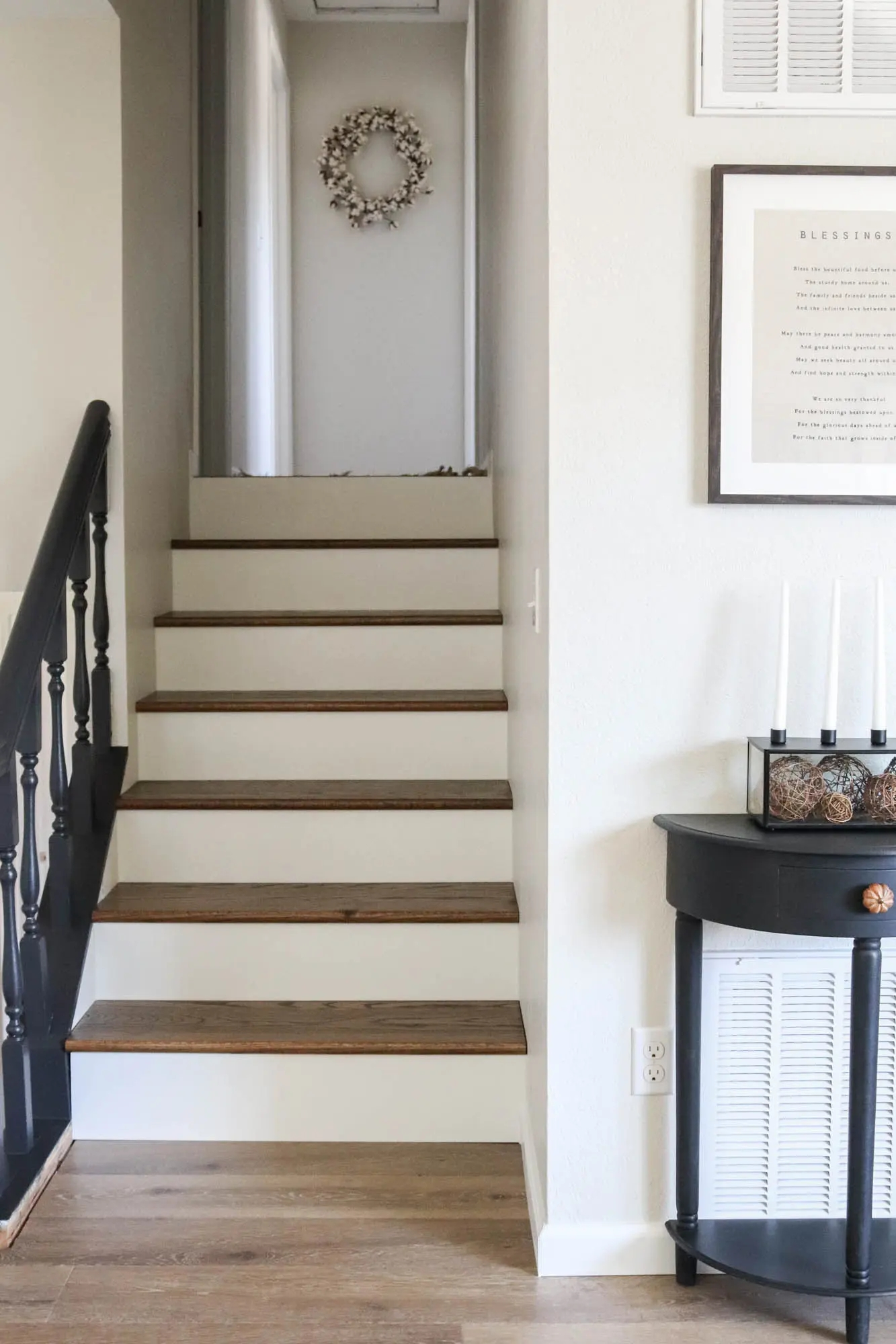 Diy Staircase Makeover The Wood Grain Cottage | Stairs Covered In Wood | Round | Interior | Metal | Random | Luxury
