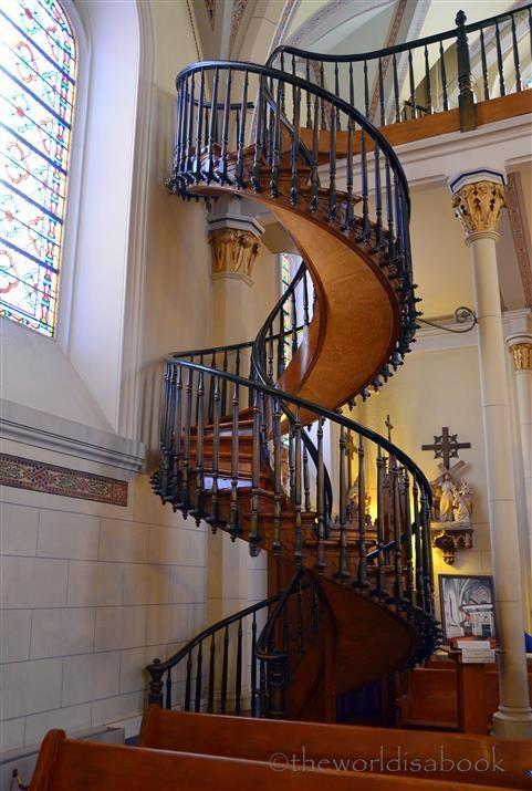 Miraculous Stairway Of Loretto Chapel Santa Fe The World   Stairs Of Loretto Chapel
