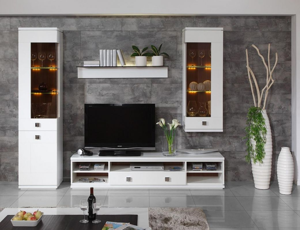 Modern Furniture Ideas For Living Room bright gloss white living room decoration furniture