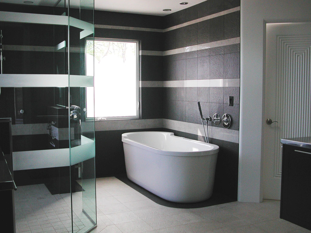 35 Best Contemporary Bathroom Design Ideas charming modern bathroom with remarkable black striped white