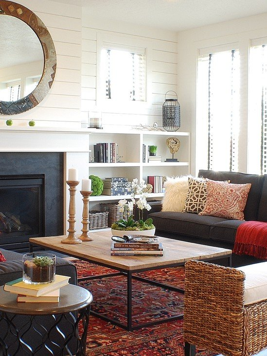 Living Cottage Rooms Style Small