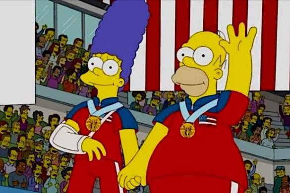 14 Times  The Simpsons  Predicted the Future  Photos  The Simpsons Olympic Gold Medal Curling