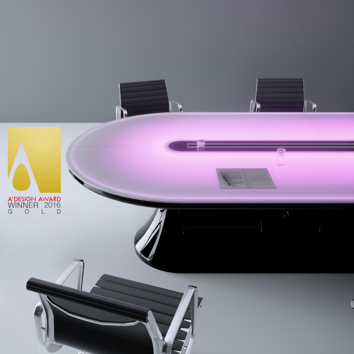 Info table - futuristic conference table in adamantx ...