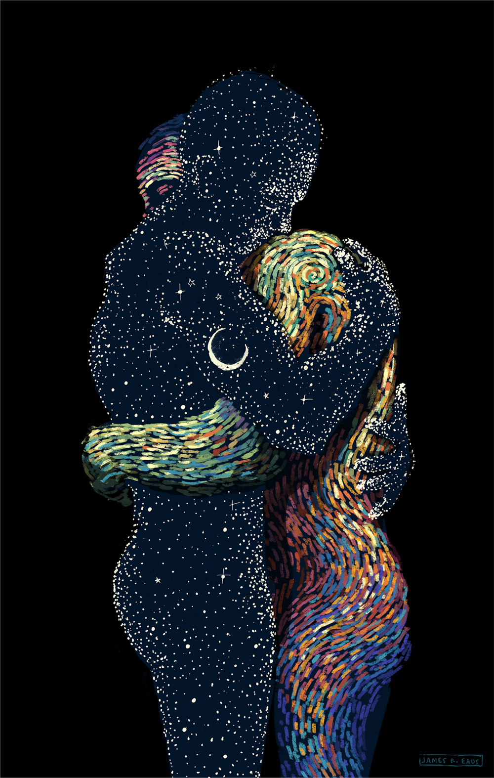 Swirling Illustrations By James R Eads Explore Human