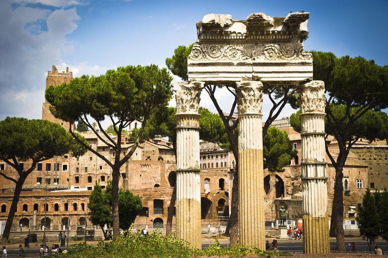 The Forum Romanum or Roman Forum in Ancient Rome
