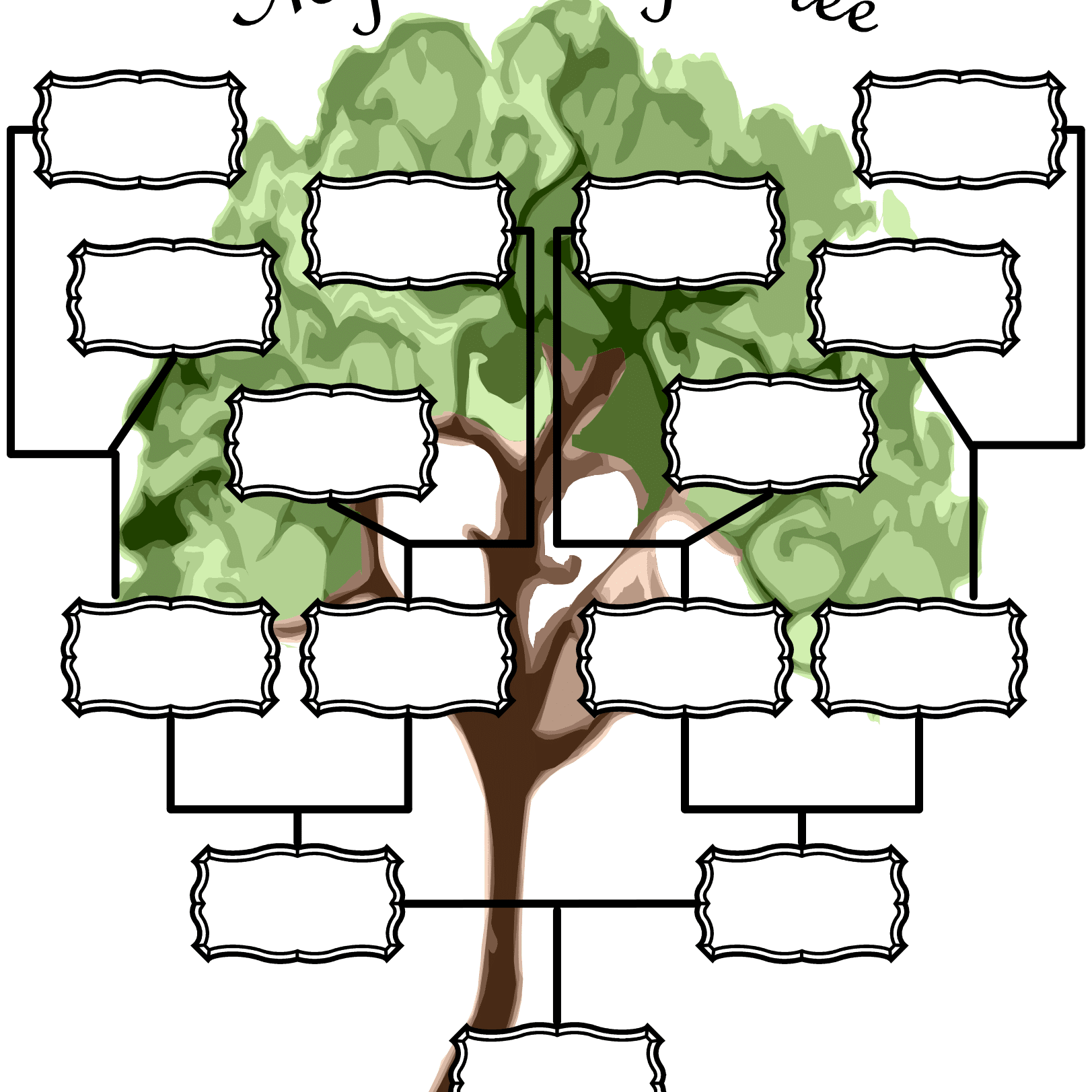 family trees in spanish - HD 1623×1623