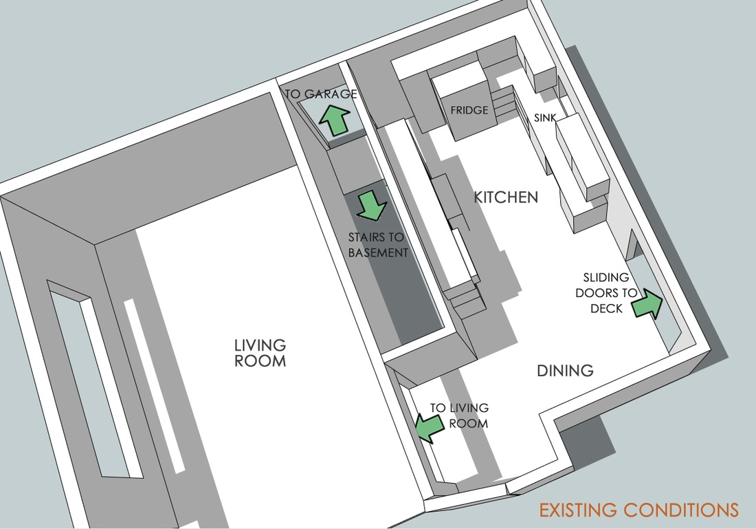 Thrasher Works Blog Thrasher Works | Opening Up Basement Stairs | Underneath | Landing | Living Room | Wall | Basement Above
