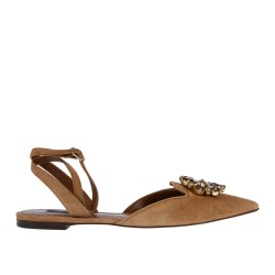 8139fe227 Dolce   Gabbana Trovaprezzinuovo Light Brown Suede Flat Sandal With