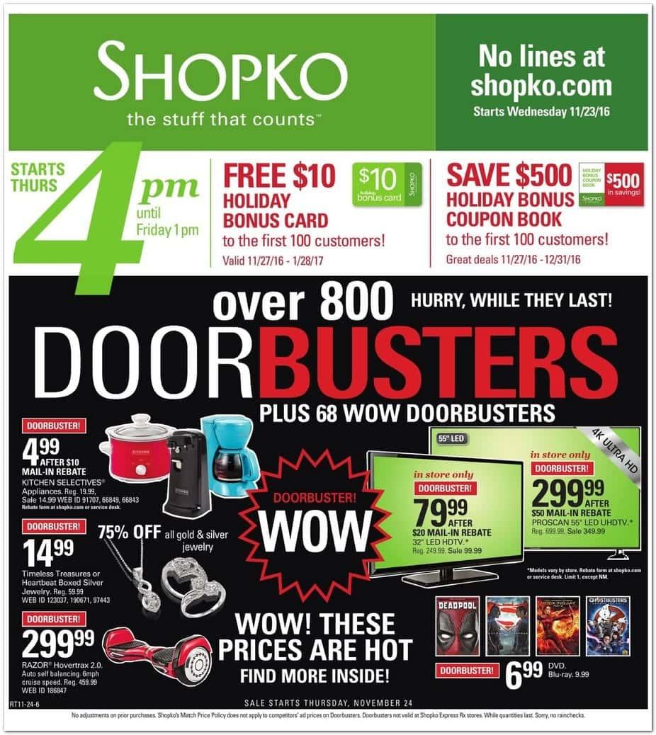ShopKo Black Friday Deals 2014