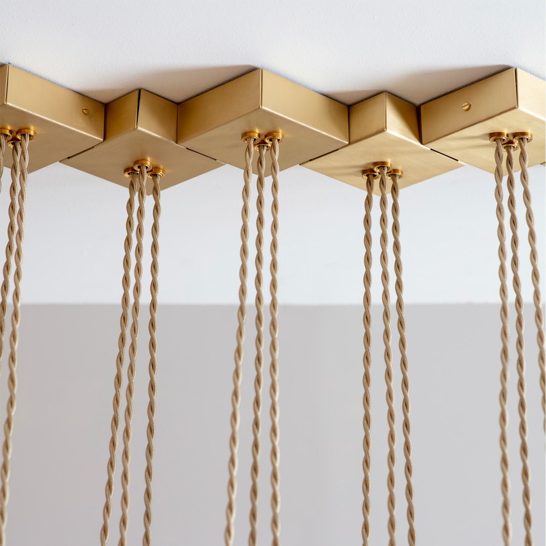 Brass Fold Linear Chandelier Tigermoth Lighting