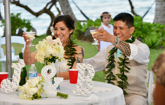 Celebrate a wedding at Tiki Moon Villas