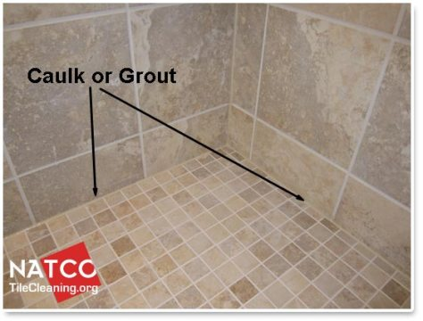 Where Should Grout and Caulk be Installed in a Tile Shower using caulk or grout around shower floor