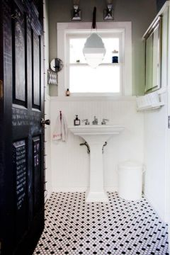 27 small black and white bathroom floor tiles ideas and pictures small black and white bathroom floor tiles 1   small black and white bathroom floor tiles 2