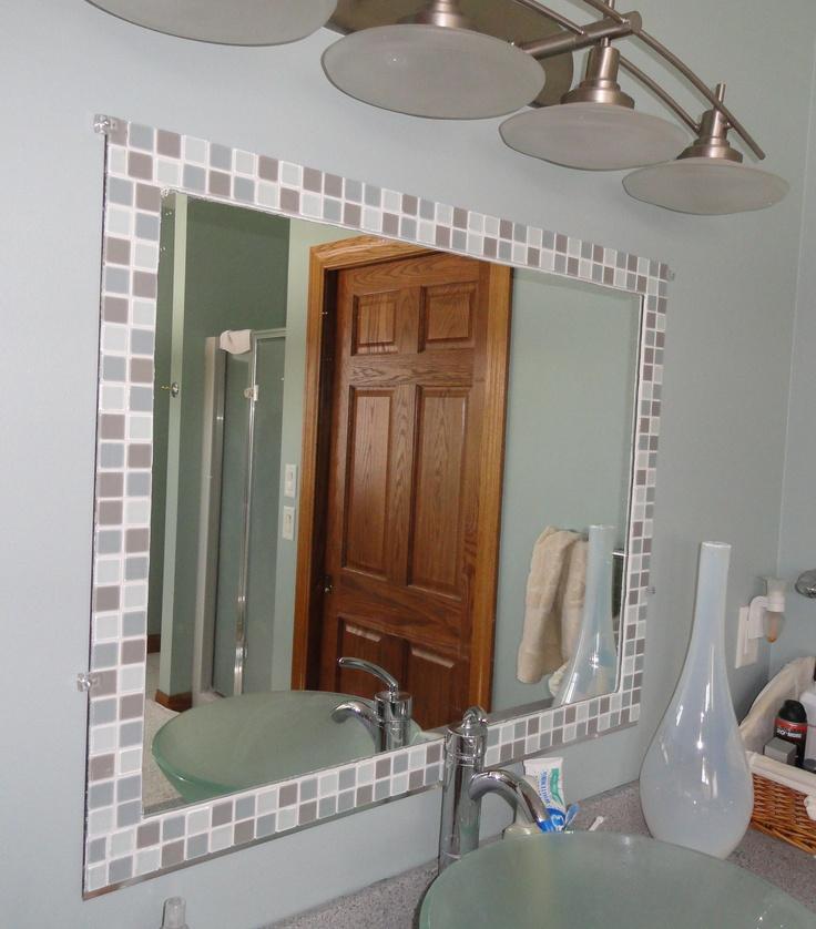 32 Ideas Of Using Mosaic Tile Around Bathroom Mirror 2019