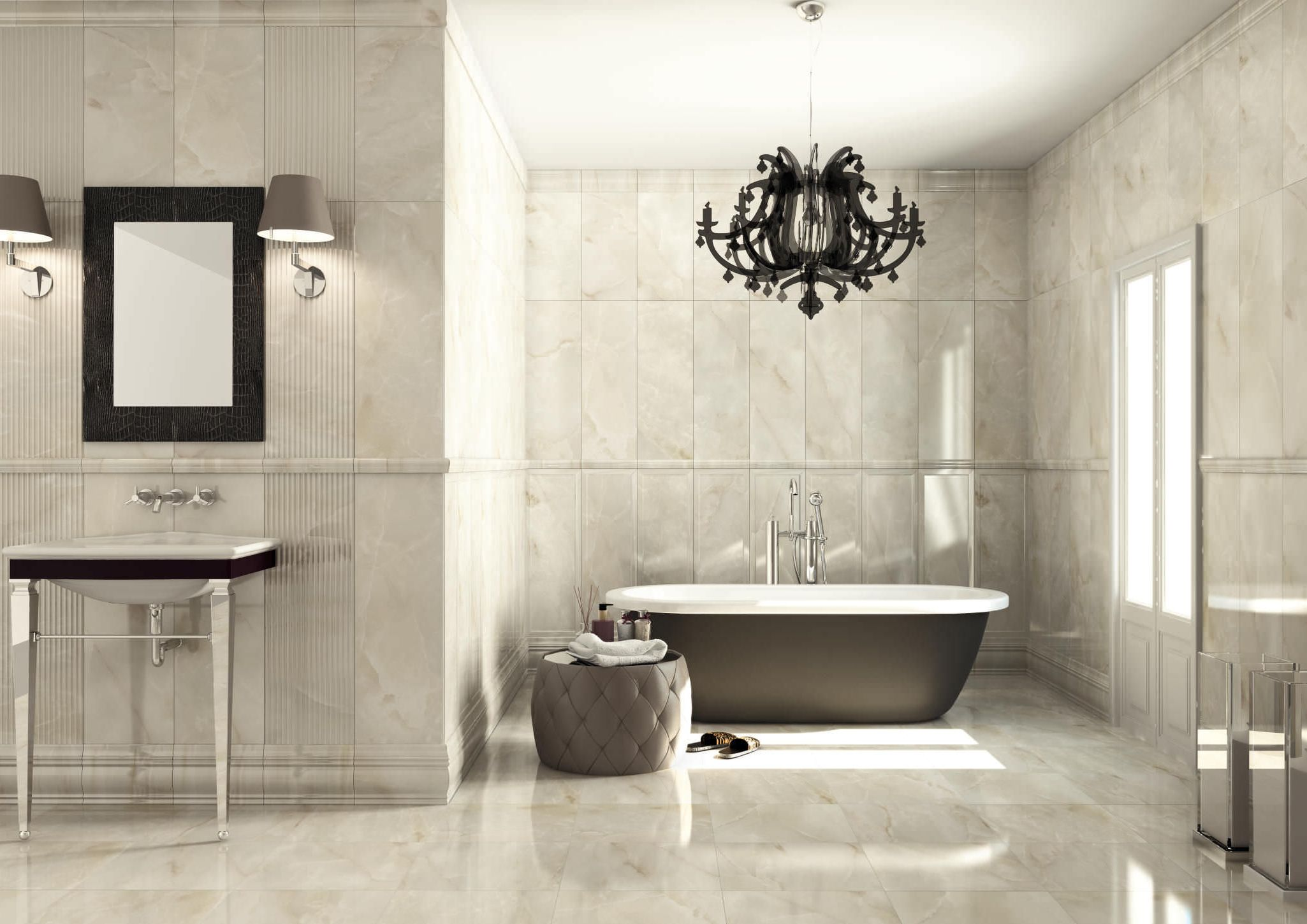 30 Good Ideas And Pictures Classic Bathroom Floor Tile