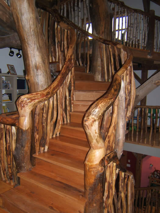 Timber Frame Home With A Tree Staircase - Outdoor Living