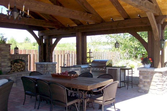 A Timber Frame Outdoor Living Space By Timberhart Woodworks