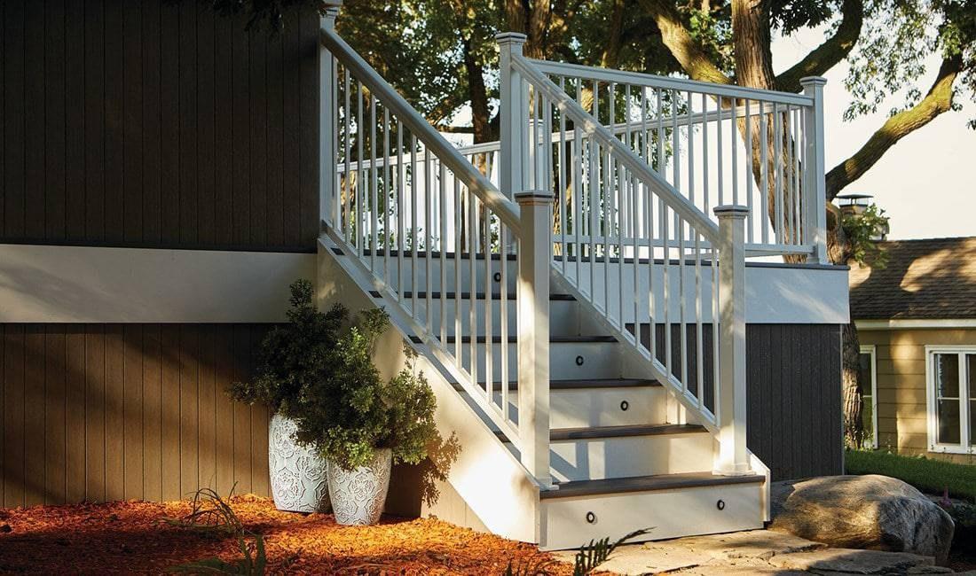 Installing Deck Railing — Impression Rail Express Timbertech   Installing Deck Stair Railing   Porch   Composite Decking   Stair Treads   Baluster   Railing Kit
