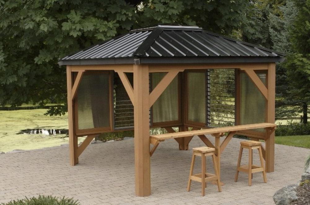 25 Ideas Of Garden Metal Roof Gazebo