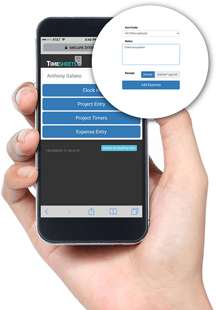 Mobile Time Tracking App  Employee Timesheets with GPS Time Tracking project time tracking app