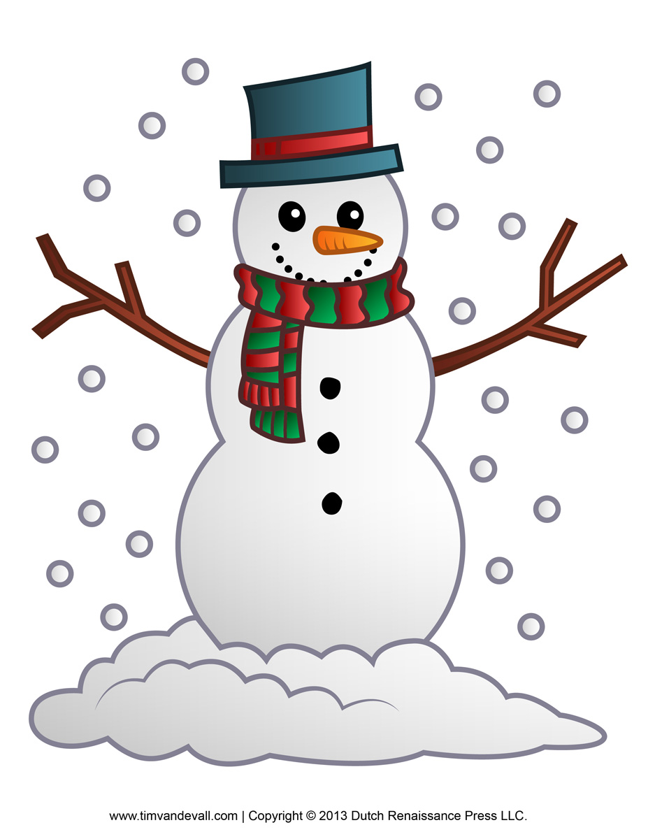 Snowman Cut Out Clip Art
