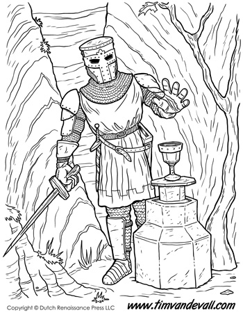 knight coloring page # 49