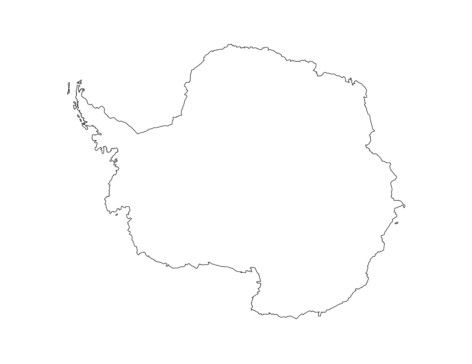 Blank Antarctica Map Printable antarctica map printable
