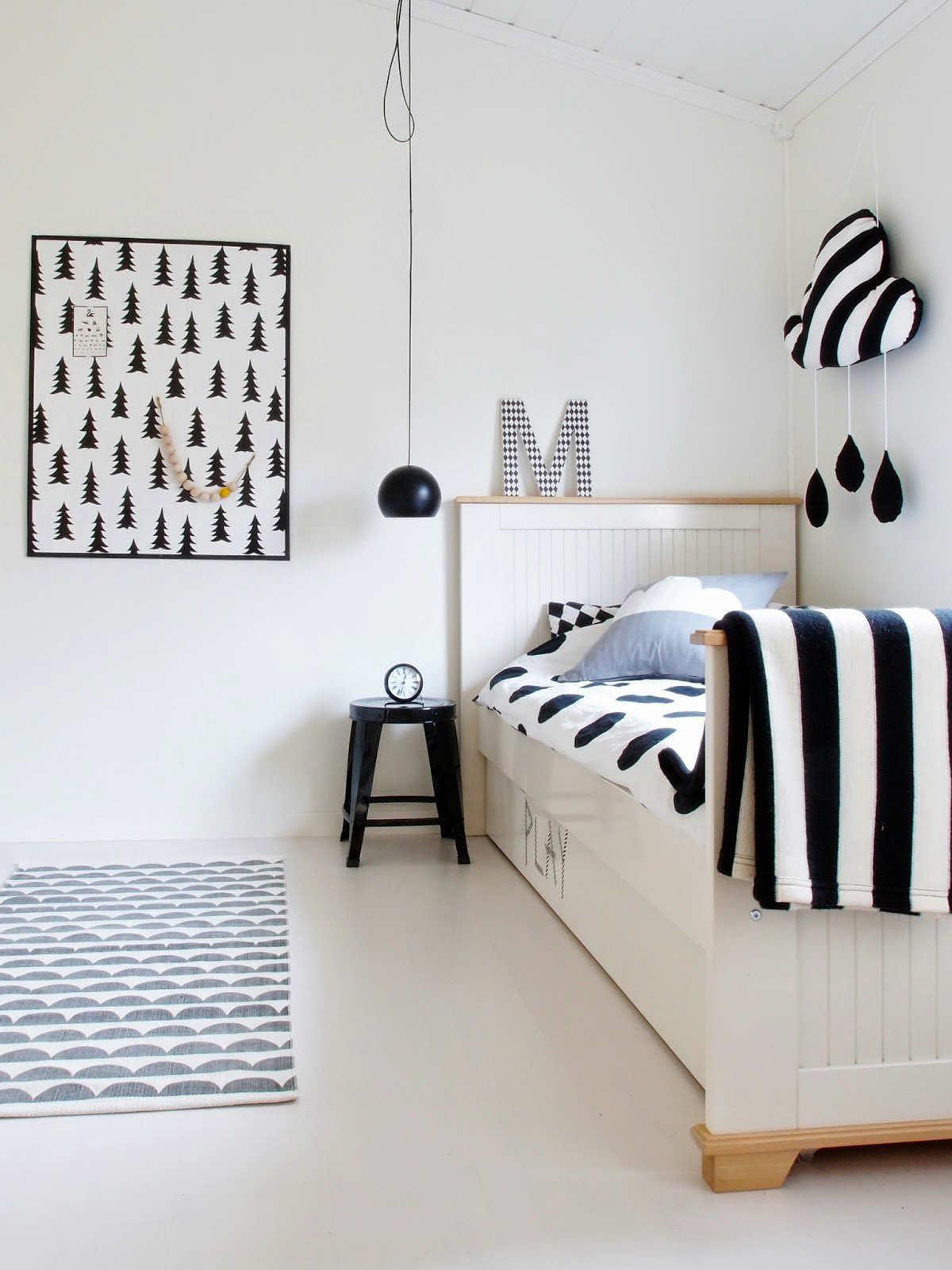 10 Monochrome Kids Rooms Tinyme Blog