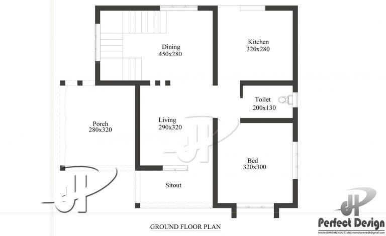 Home Design 800 Feet Sq Kerala