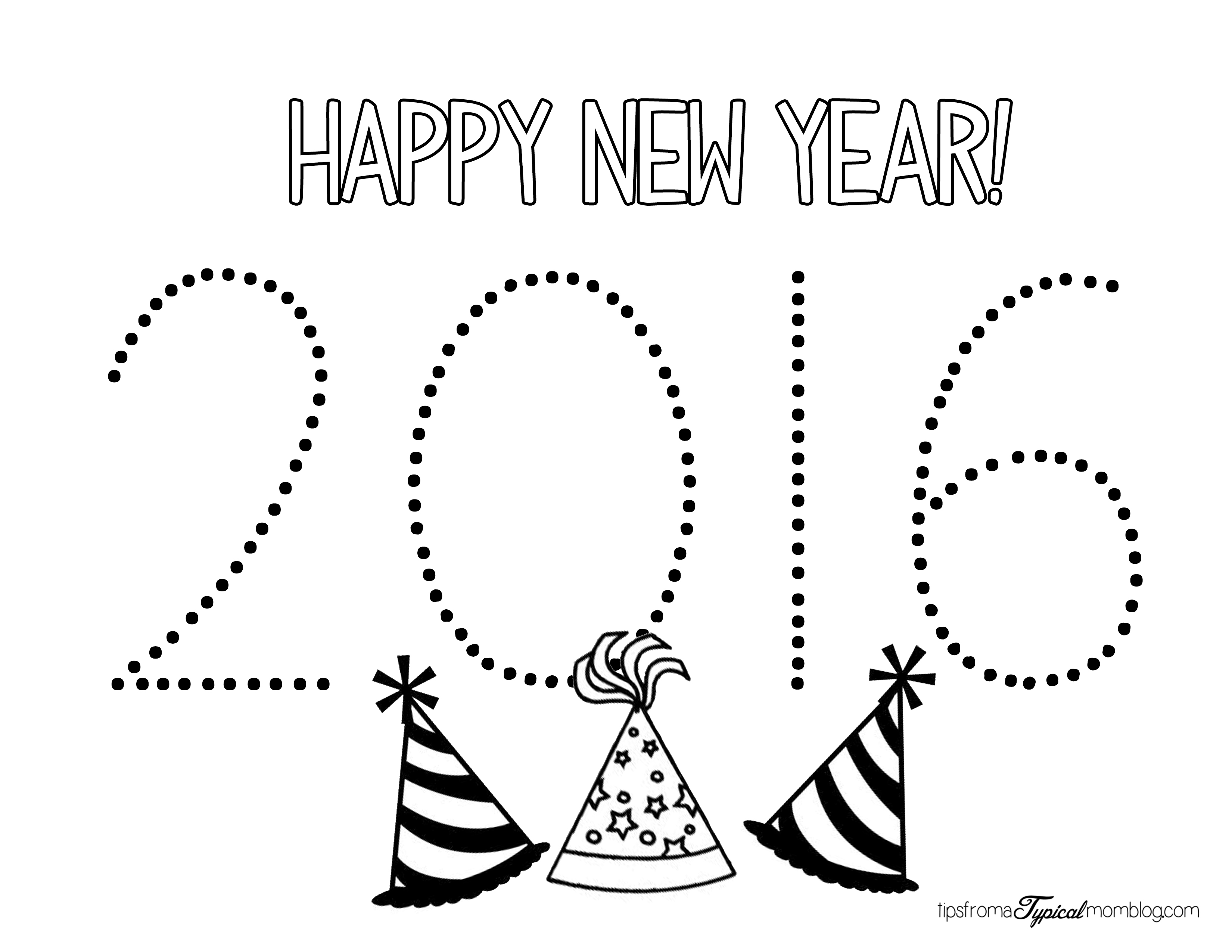 New Years Resolution Coloring Pages