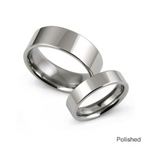 Men s and Women s Titanium Wedding Bands and Rings titanium rings classic flat