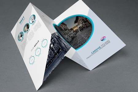 Free Creative Trifold Brochure Template PSD   TitanUI Creative Trifold Brochure Template PSD