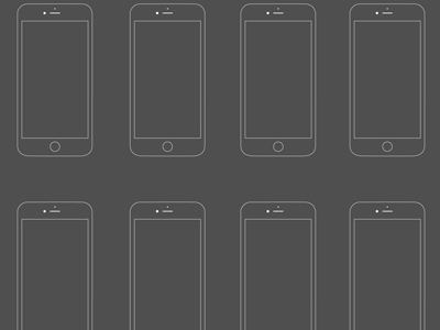 Free iPhone 6 Wireframe PSD   TitanUI iPhone 6 Wireframe PSD
