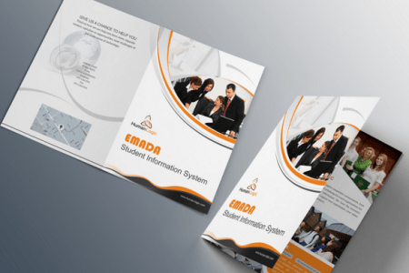 Free Orange Business Tri fold Brochure Template PSD   TitanUI Orange Business Tri fold Brochure Template PSD
