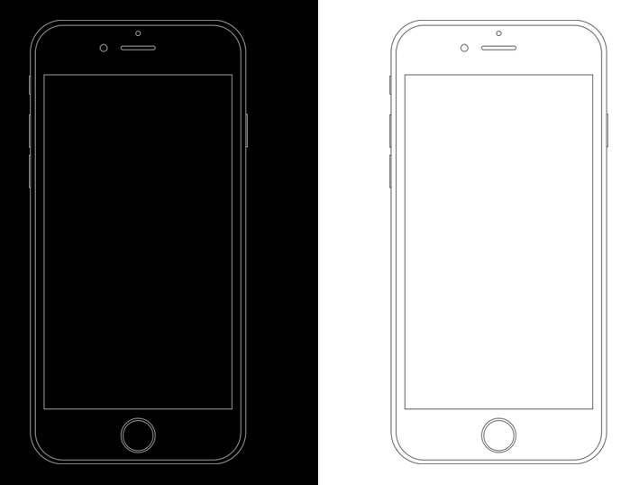 Free Minimal Apple iPhone 6s Wireframe Templates PSD   TitanUI Minimal Apple iPhone 6s Wireframe Templates PSD