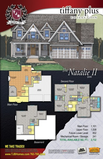 Two Story Showcase   The Natalie II Floor Plan Home Plans  Two Story Floor Plans   Two Story Showcase  The Natalie II   Traditional