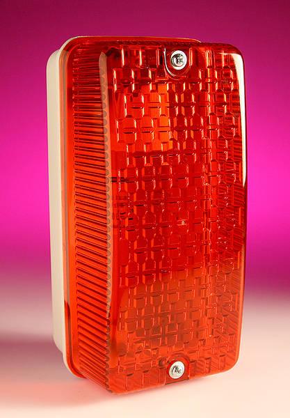 100w Es Weatherproof Bulkhead Light Red Ip65