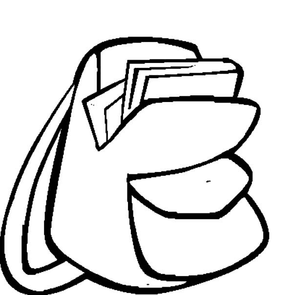 Backpack Image Coloring Pages | Best Place to Color