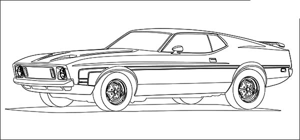 Mustang Gt 500 Coloring Pages