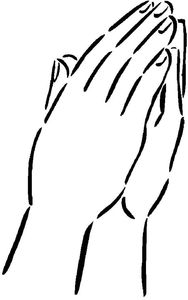 Two Attached Hands Coloring Pages | Best Place to Color