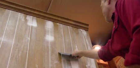 How to Fill Grooves in Paneling Before Painting   Today s Homeowner Filling the grooves in paneling before painting for a smooth surface