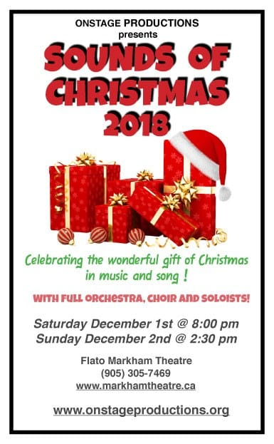 Sounds Of Christmas Flato Markham Theatre 171 Town