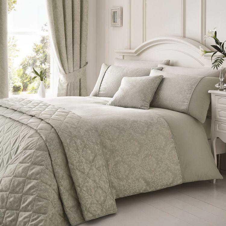 Laurent Jacquard Cotton Rich Silver Duvet Cover