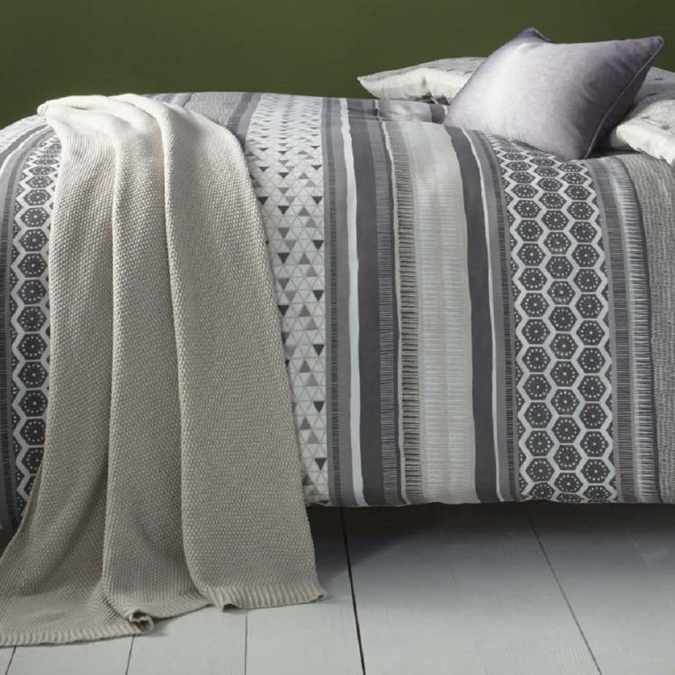 Stripe Geometric Reversible Duvet Cover Set