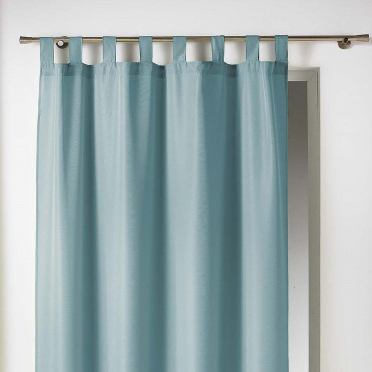 Essentiel Plain Tab Top Curtain Panel Mint Blue