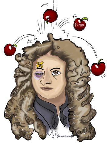 Isaac Newton Caricatura