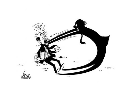 Cartoon Peoples Shadows