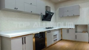 China Stainless Steel Kitchen Cabinets Aluminium Furniture